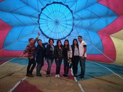 Vuelo compartido en globo en Valle de Guadalupe