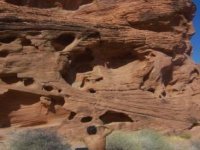 Climbing red stone