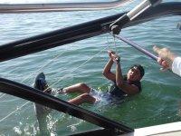 Aprendiendo wakeboard
