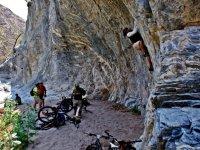Cycling and climbing