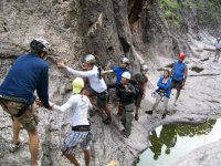In group canyoning