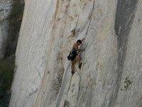 Climbing on vertical walls