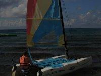 Moviendo el catamaran