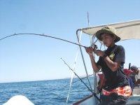 Fishing at sea