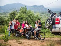 Quad bike and bicycle tourism