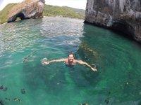 Nadando en los arcos