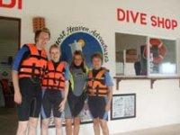 Listos para el snorkel