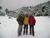 Caminata en la nieve