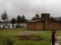 Lake and bungalows
