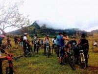 Concentracion de ciclistas de montana