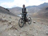 Subiendo el Nevado de Toluca en bicicleta