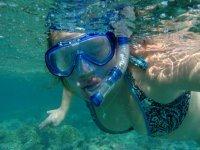 El snorkel con nosotros