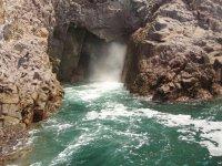 Enter the Bufadora cave