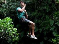 Zipline in the jungle