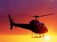Sunset by helicopter