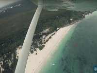 Fly over the beach