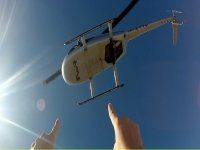 Enjoy flying by helicopter