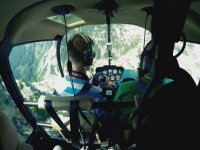 Travel all by helicopter