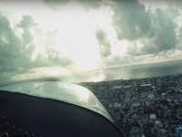 Over the sky of Riviera Maya
