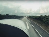 Flying by Riviera Maya