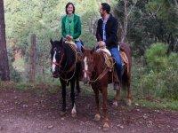 horseback riding as a couple