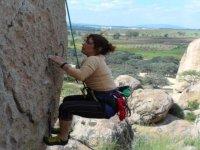 Balance de roche naturelle