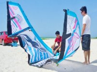 inflating the kite