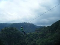 Panoramic landscapes with zip lines