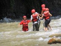 Diversion en el rio