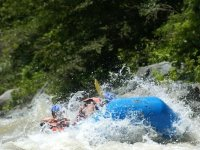 Rafting in fast rivers