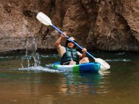 Remando un kayak