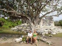 Zona de ruinas mayas