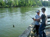 The little ones having fun fishing
