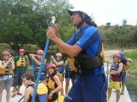Instrucciones de rafting
