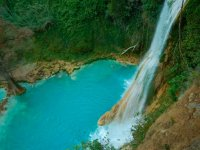 Spectacular view of the Minas Viejas waterfall