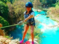 Rappel in the Minas Viejas waterfall
