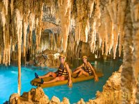Underground river rafts