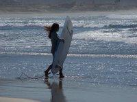 Surfer en la playa