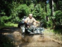 Crossing the mud in ATV