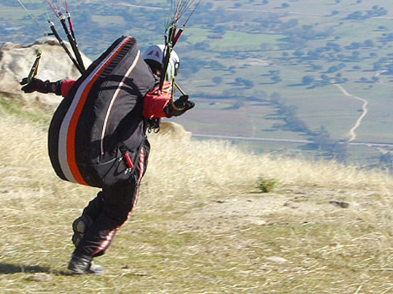 Despegue en parapente