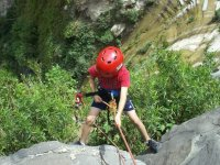 Rappel in canyons