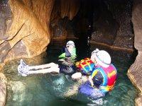 Swim in underground rivers