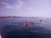 snorkeleando en las islas