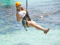 Zipline over the Caribbean