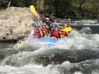 On the river and rapids