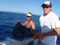 Fishing in the open sea