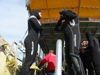 Getting ready for diving