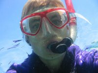 Playing with snorkeling