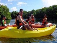 Kayaking in the sun