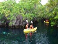Kayaking in cenotes